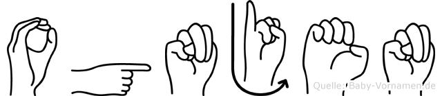 Ognjen in Fingersprache für Gehörlose