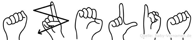 Azelia in Fingersprache für Gehörlose