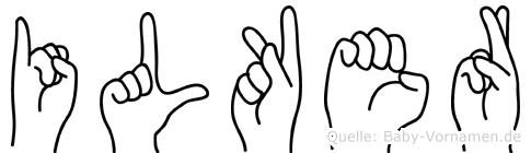 Ilker in Fingersprache für Gehörlose