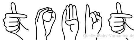 Tobit im Fingeralphabet der Deutschen Gebärdensprache