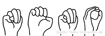 Nemo im Fingeralphabet der Deutschen Gebärdensprache