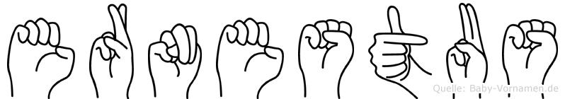 Ernestus in Fingersprache für Gehörlose
