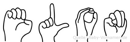 Elon im Fingeralphabet der Deutschen Gebärdensprache