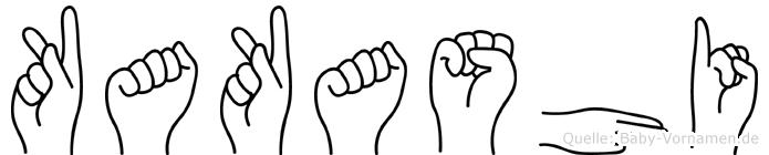 Kakashi in Fingersprache für Gehörlose