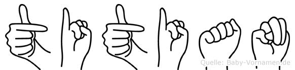 Titian in Fingersprache für Gehörlose