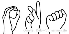 Oka in Fingersprache für Gehörlose