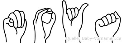 Moya in Fingersprache für Gehörlose