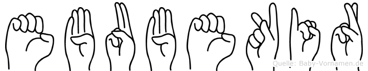 Ebubekir in Fingersprache für Gehörlose