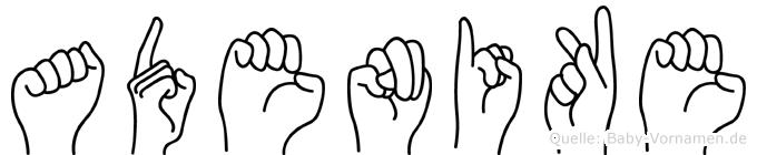 Adenike in Fingersprache für Gehörlose