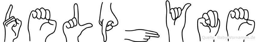 Delphyne im Fingeralphabet der Deutschen Gebärdensprache
