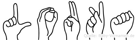 Louka in Fingersprache für Gehörlose