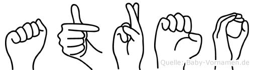 Atreo in Fingersprache für Gehörlose