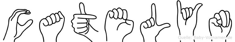 Catelyn im Fingeralphabet der Deutschen Gebärdensprache