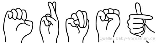 Ernst in Fingersprache für Gehörlose