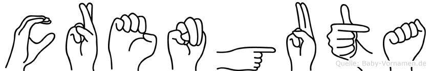 Crenguta in Fingersprache für Gehörlose