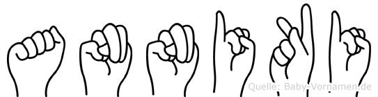 Anniki im Fingeralphabet der Deutschen Gebärdensprache
