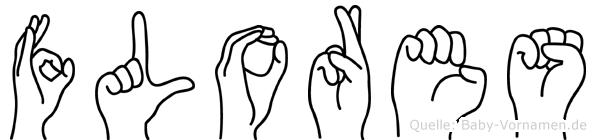 Flores im Fingeralphabet der Deutschen Gebärdensprache