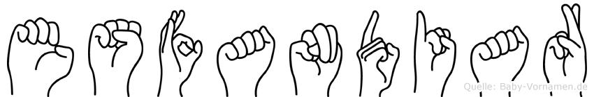 Esfandiar in Fingersprache für Gehörlose