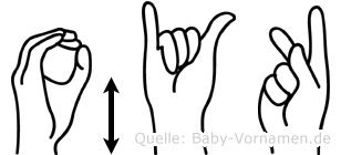 Öykü in Fingersprache für Gehörlose