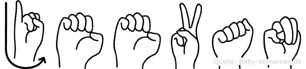 Jeevan in Fingersprache für Gehörlose