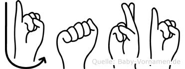 Jari im Fingeralphabet der Deutschen Gebärdensprache