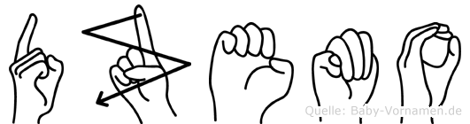 Dzemo in Fingersprache für Gehörlose