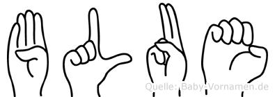 Blue in Fingersprache für Gehörlose