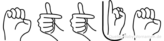 Ettje in Fingersprache für Gehörlose