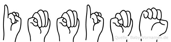 Immine im Fingeralphabet der Deutschen Gebärdensprache
