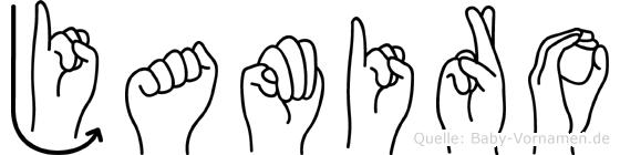 Jamiro in Fingersprache für Gehörlose