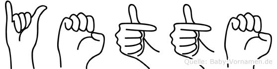 Yette in Fingersprache für Gehörlose