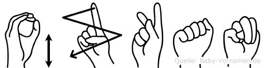 Özkan in Fingersprache für Gehörlose