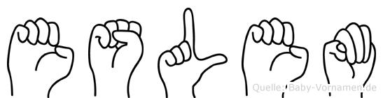 Eslem im Fingeralphabet der Deutschen Gebärdensprache