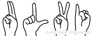 Ulvi in Fingersprache für Gehörlose