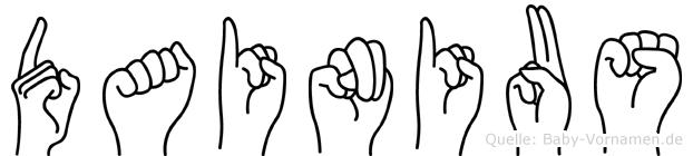 Dainius im Fingeralphabet der Deutschen Gebärdensprache
