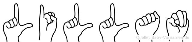 Lillan in Fingersprache für Gehörlose