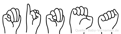 Minea in Fingersprache für Gehörlose