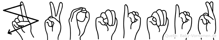 Zvonimir im Fingeralphabet der Deutschen Gebärdensprache
