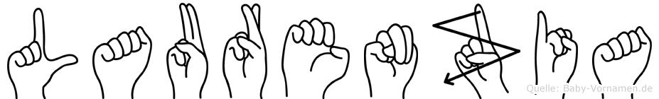 Laurenzia im Fingeralphabet der Deutschen Gebärdensprache