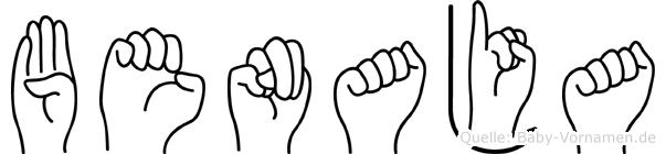 Benaja in Fingersprache für Gehörlose