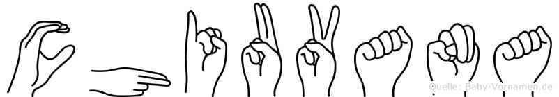 Chiuvana in Fingersprache für Gehörlose