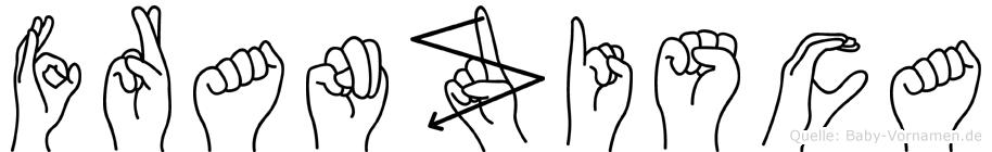 Franzisca im Fingeralphabet der Deutschen Gebärdensprache
