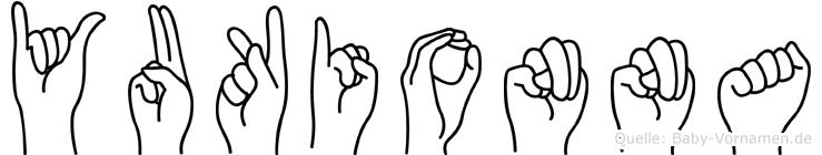 Yukionna im Fingeralphabet der Deutschen Gebärdensprache