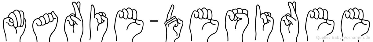 Marie-Desiree im Fingeralphabet der Deutschen Gebärdensprache