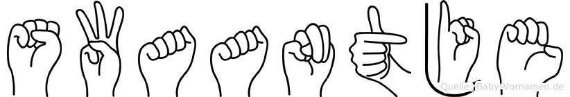 Swaantje in Fingersprache für Gehörlose
