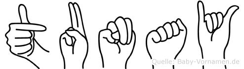Tunay im Fingeralphabet der Deutschen Gebärdensprache