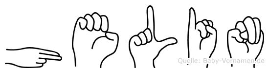 Helin im Fingeralphabet der Deutschen Gebärdensprache