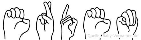 Erdem in Fingersprache für Gehörlose