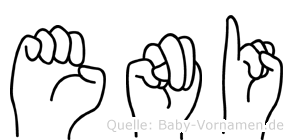Eni im Fingeralphabet der Deutschen Gebärdensprache