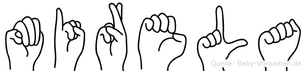 Mirela in Fingersprache für Gehörlose